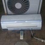 尾道市西土堂町付近で回収したエアコンです。