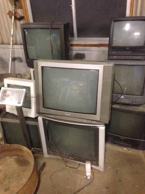 福山市能島不用品回収_ブラウン管テレビ