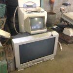 福山市大門町付近で回収させて頂いたブラウン管テレビ2台です。