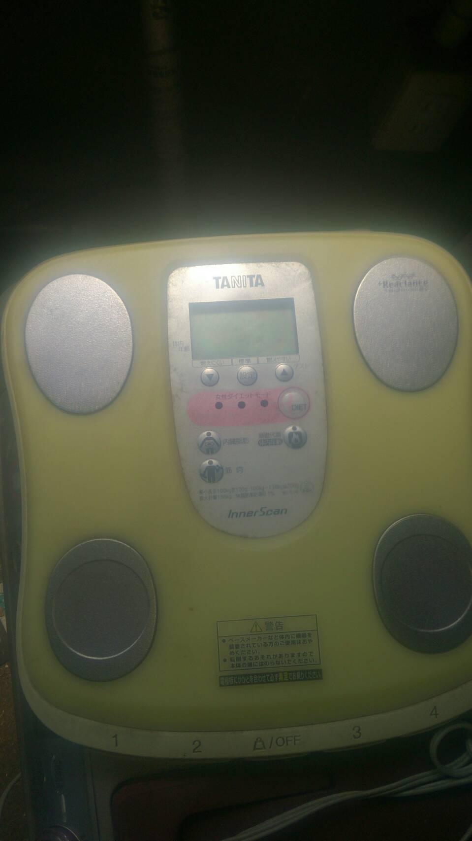 尾道市門田町付近で回収した体重計です。