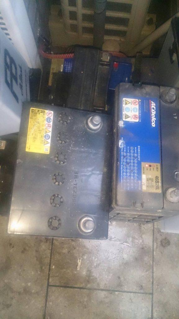 倉敷市下庄で回収したバッテリー