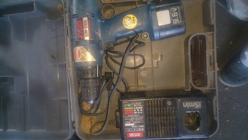 倉敷市下庄で回収した電動工具