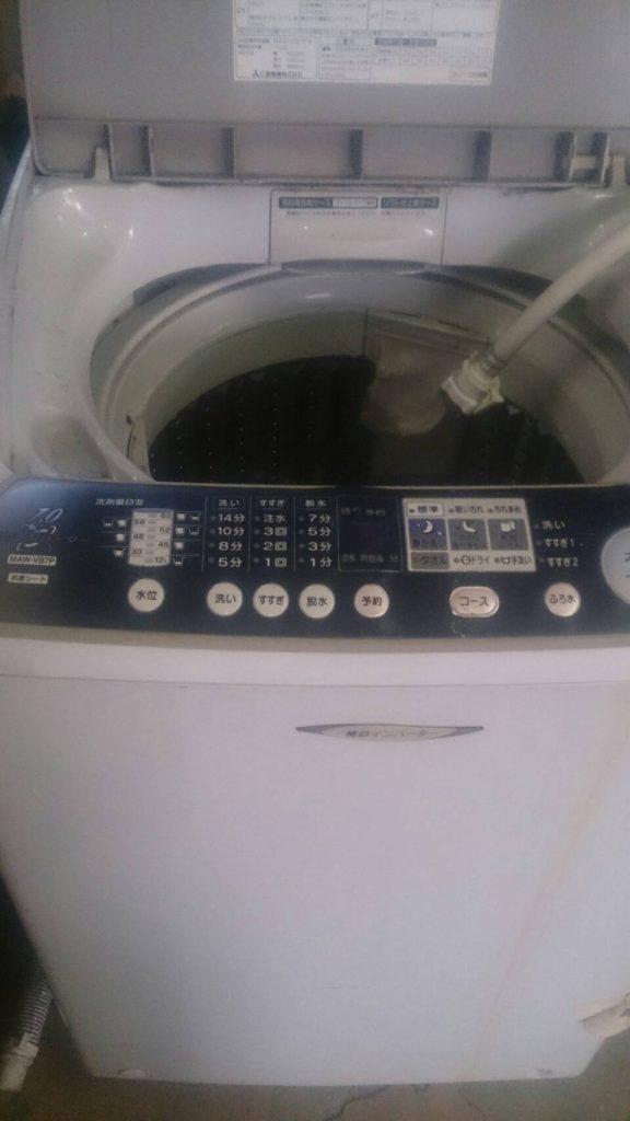 倉敷市玉島乙島で回収した洗濯機
