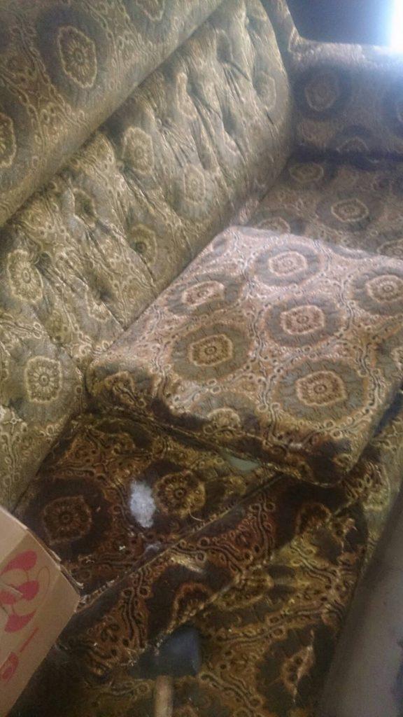 倉敷市玉島勇崎で回収した大型ソファー