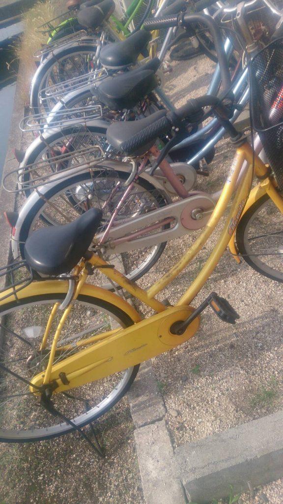 倉敷市玉島勇崎で回収した自転車