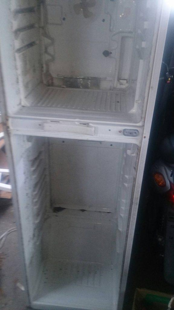 福山市北本庄で回収した冷蔵庫