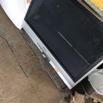 福山市田尻町付近で液晶テレビの回収