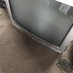 福山市大門町付近でブラウン管テレビの回収