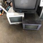 福山市幕山台付近でブラウン管テレビの回収