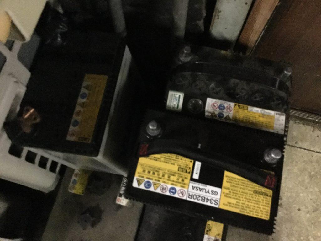 福山市赤坂付近で回収させて頂いたバッテリー