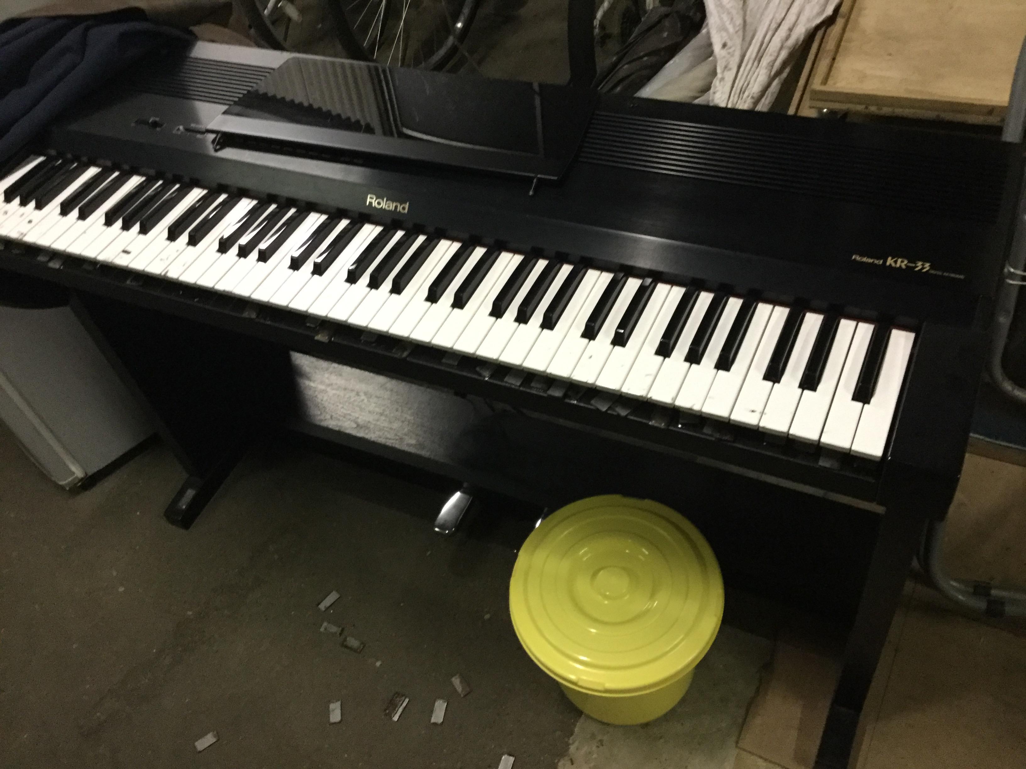 福山市新市町付近で回収した電子ピアノ