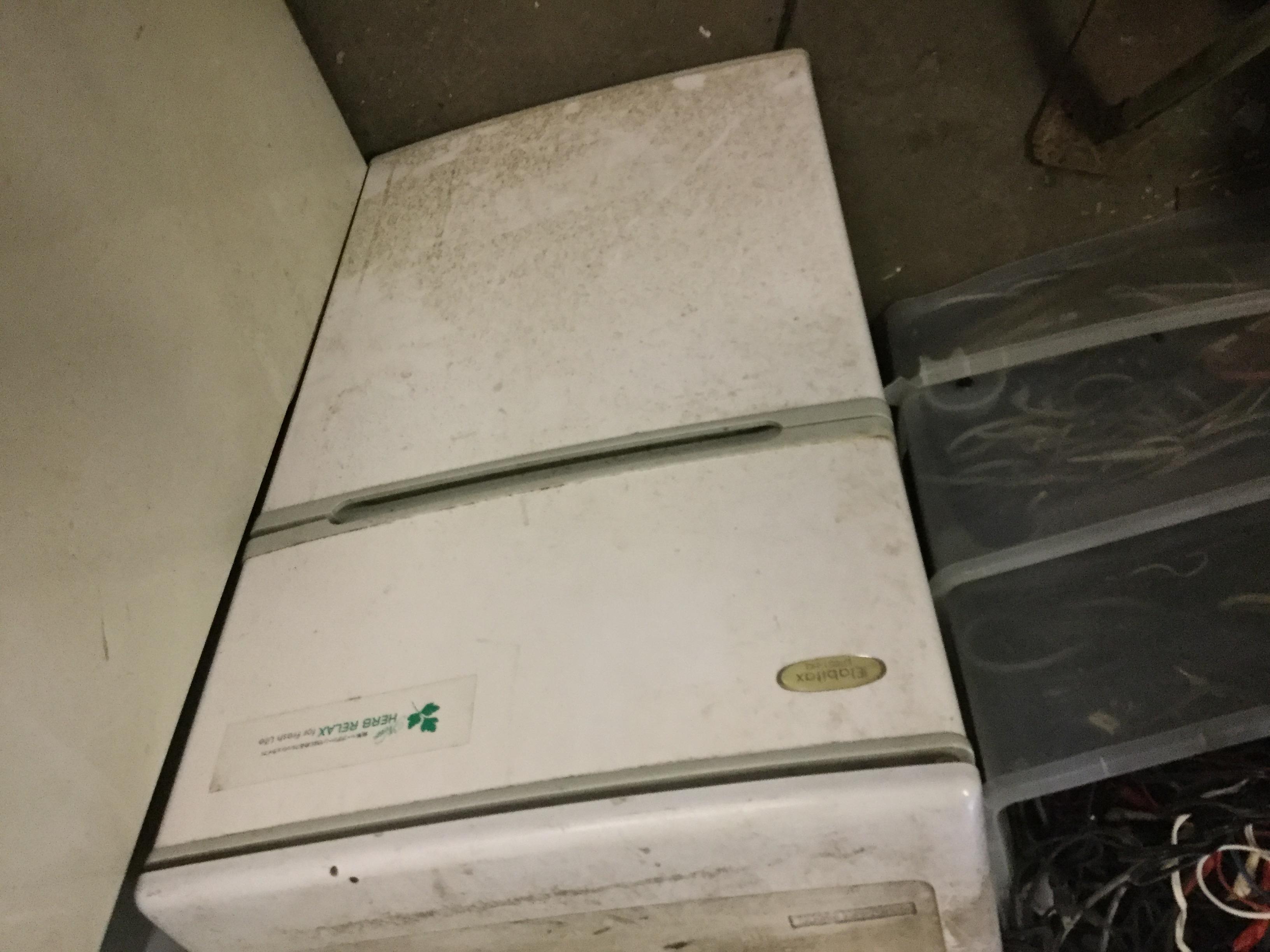 福山市木之庄町付近で回収した2ドア冷蔵庫