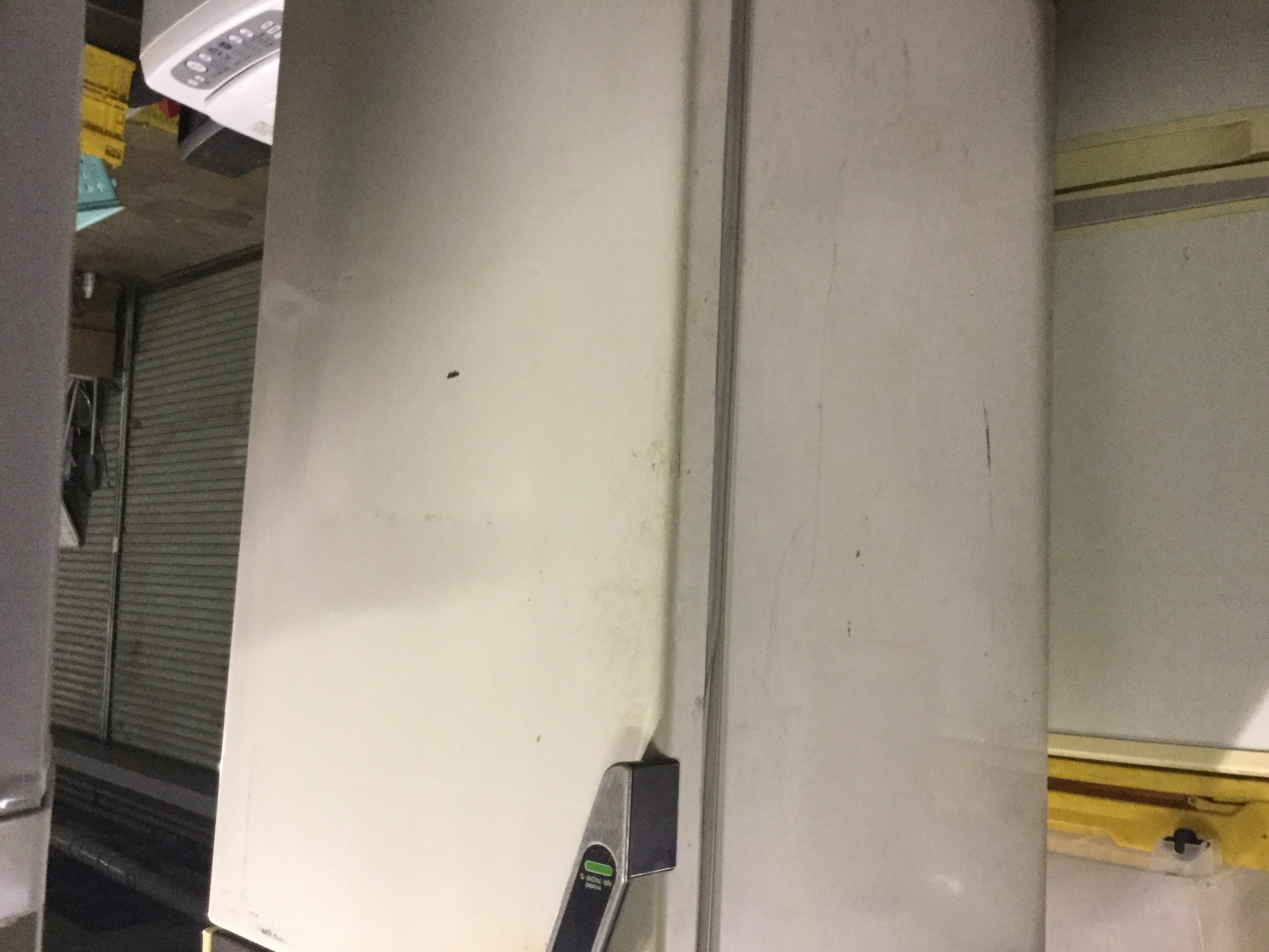 福山市箕沖町付近で回収した冷蔵庫