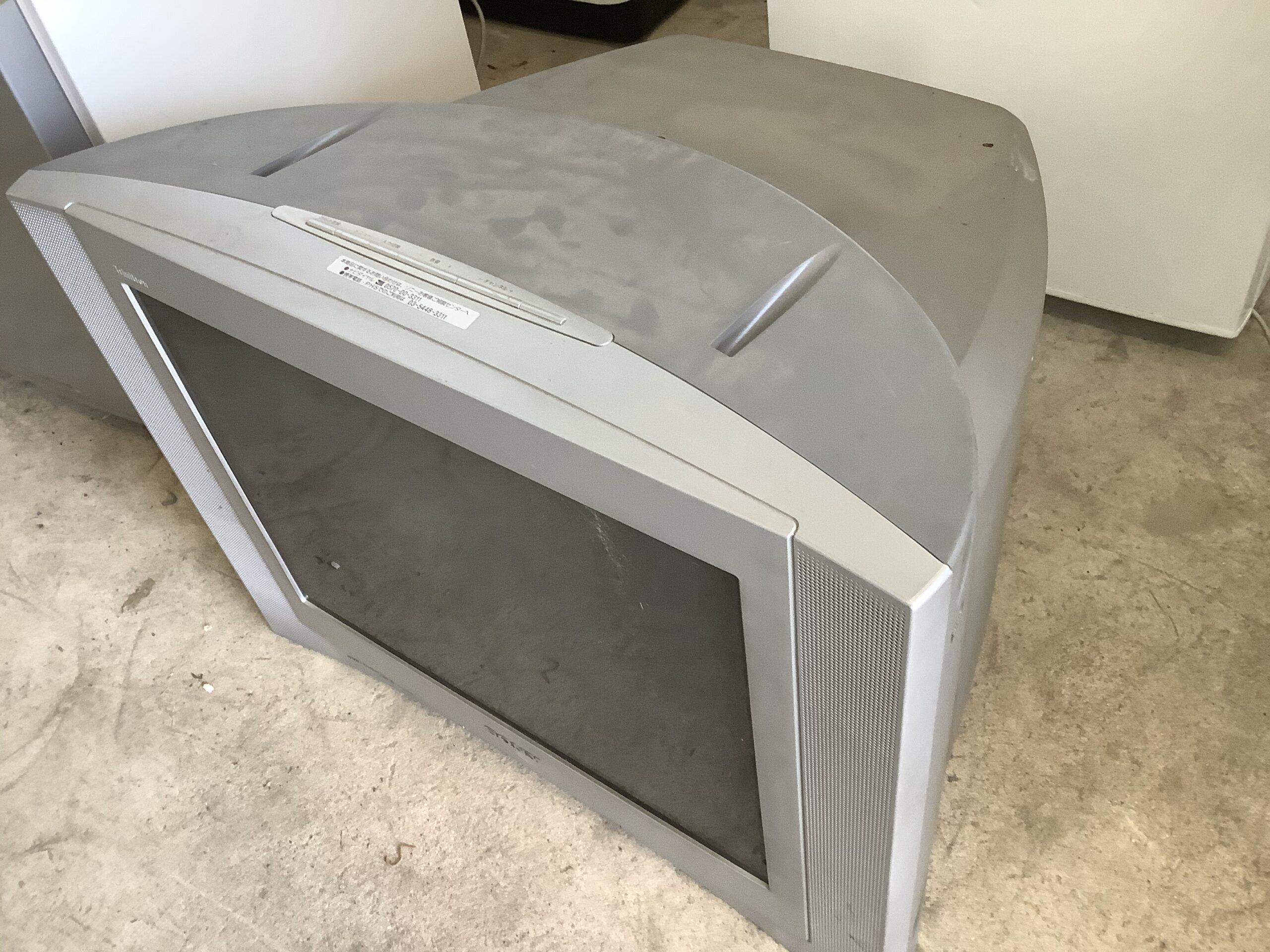 福山市神辺町で回収したブラウン管テレビ