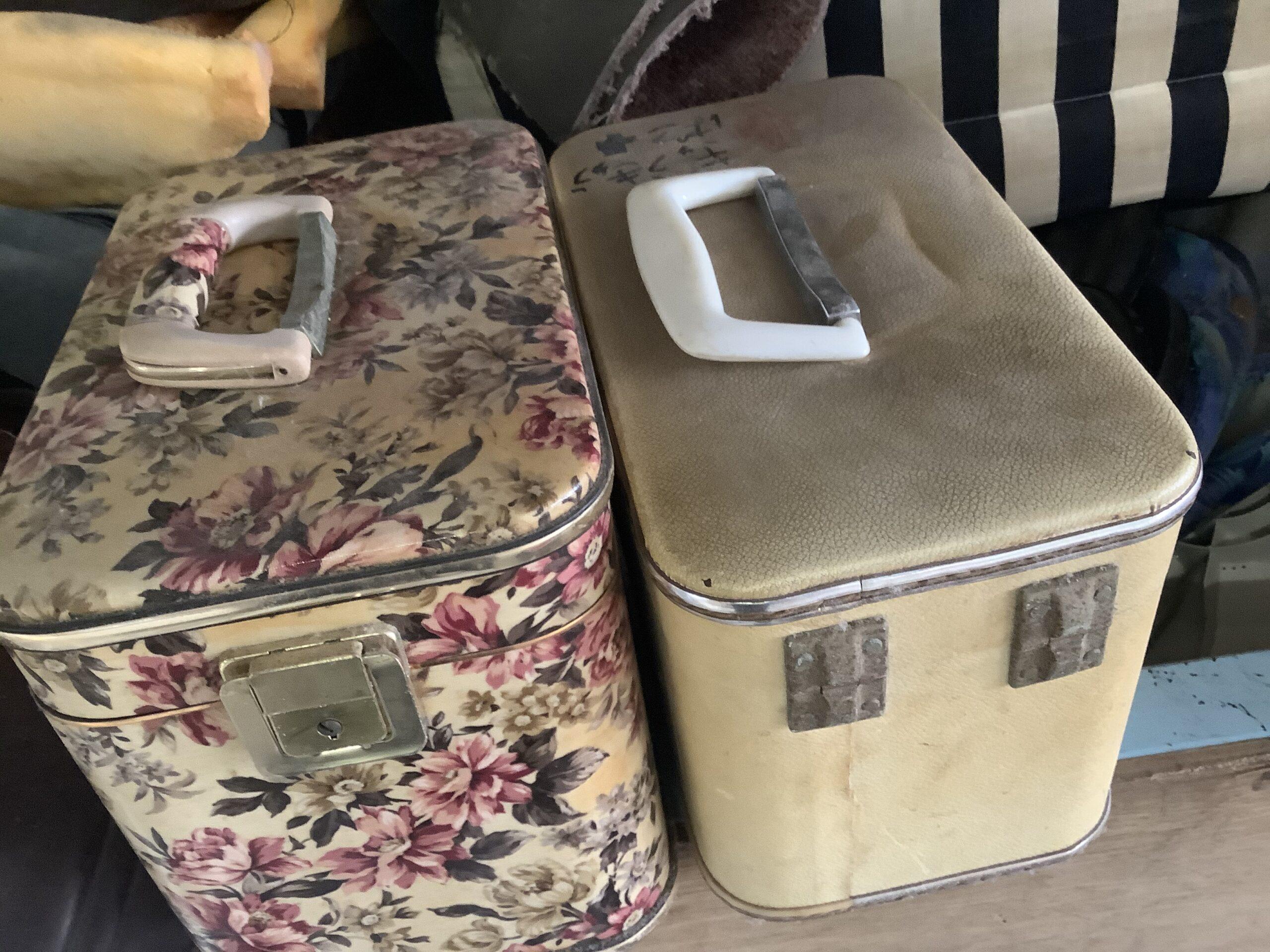 福山市熊野町で回収した化粧品ボックス