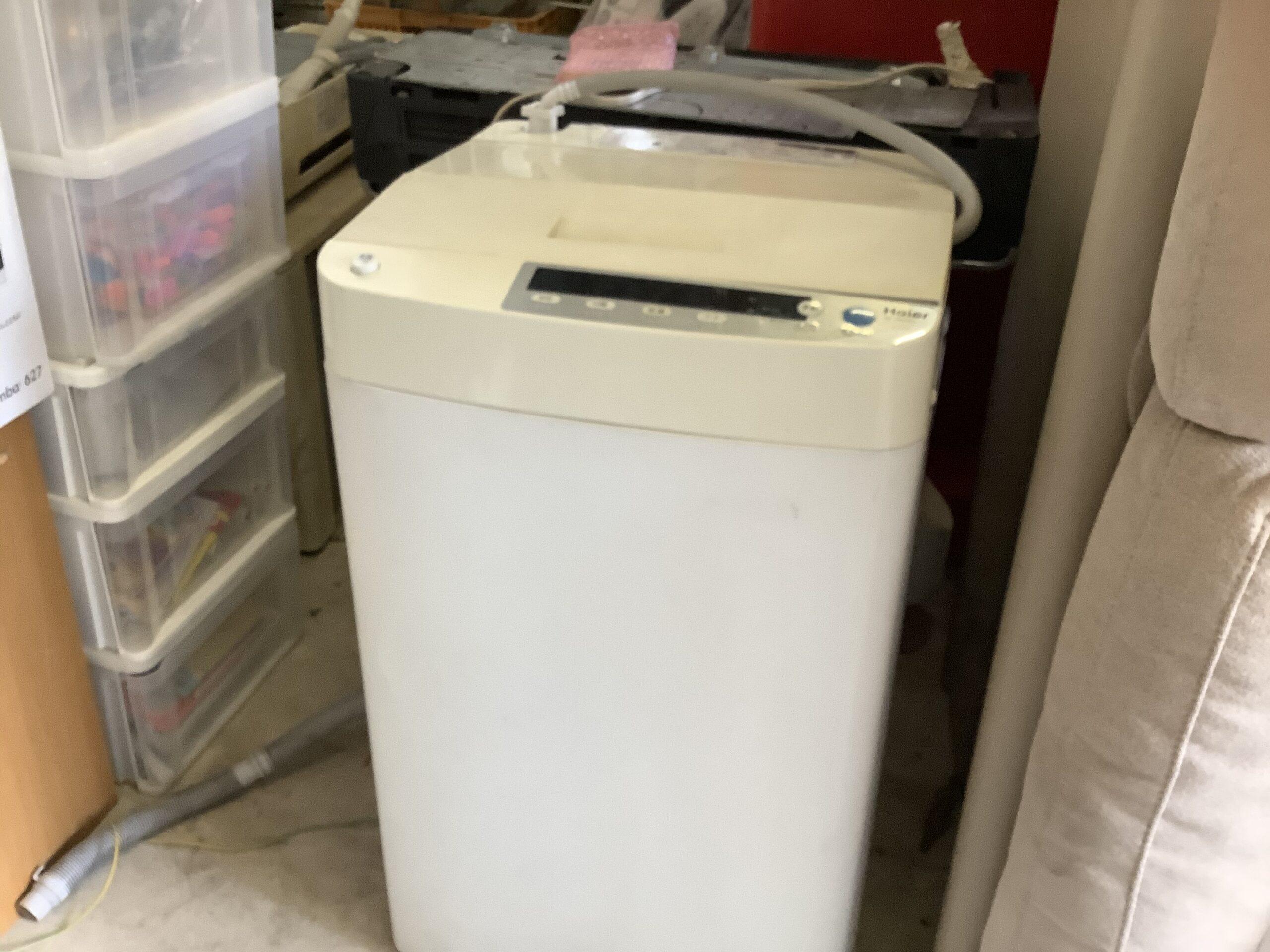 福山市新市町で回収した洗濯機