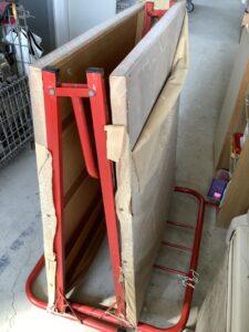 福山市川口町で回収した折りたたみベッド