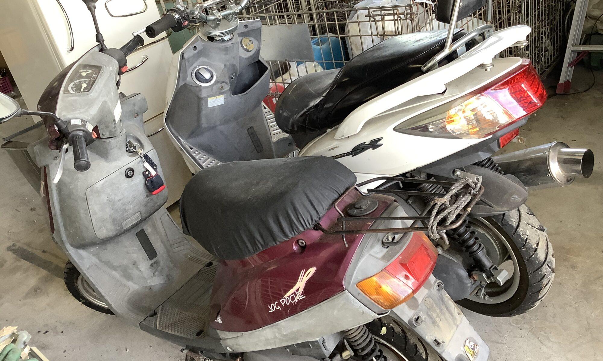 福山市内海町で回収したバイク二台