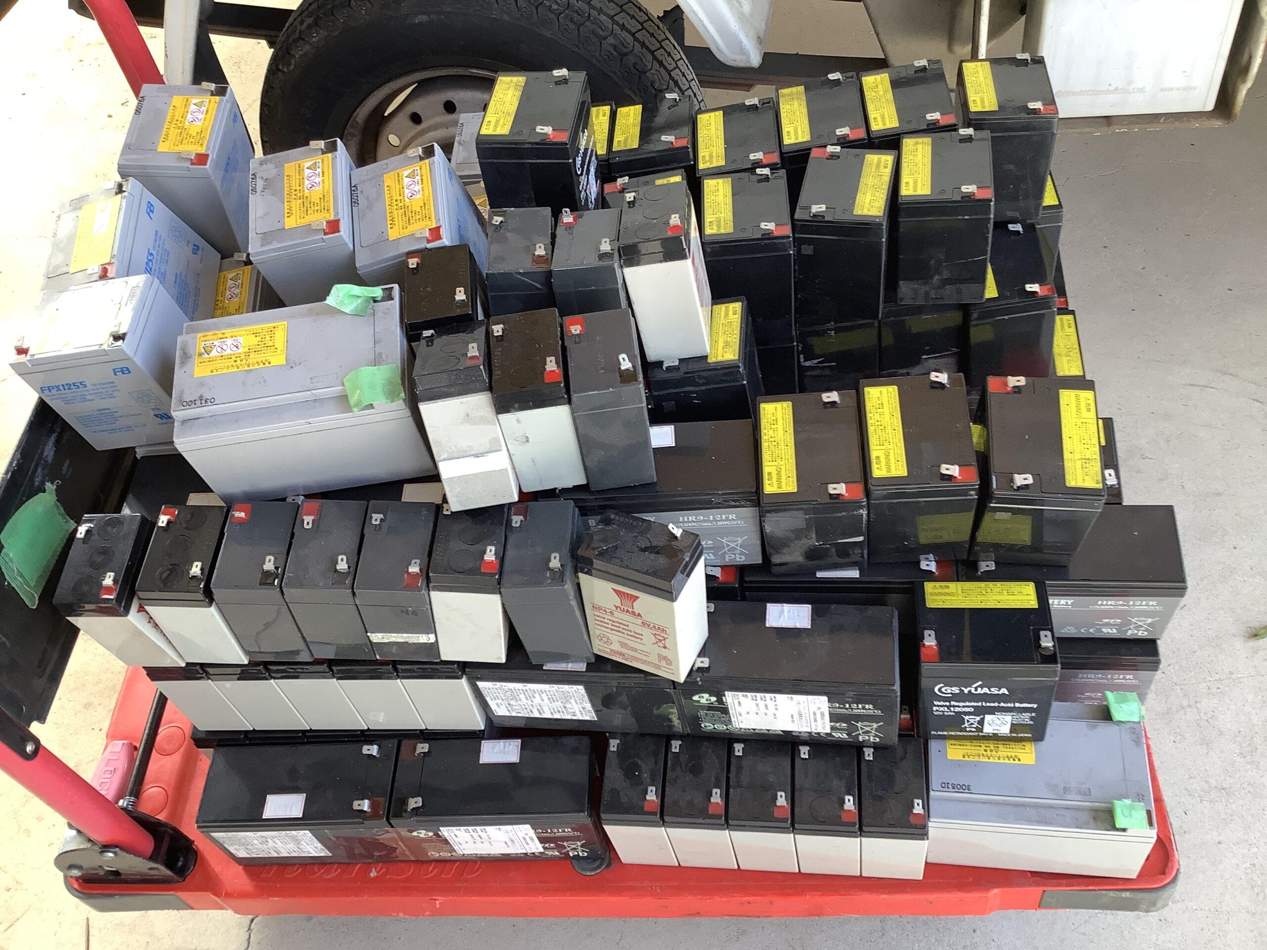 福山市千田町で回収したバッテリー