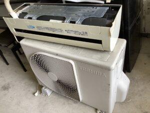 福山市大門町で回収したエアコン