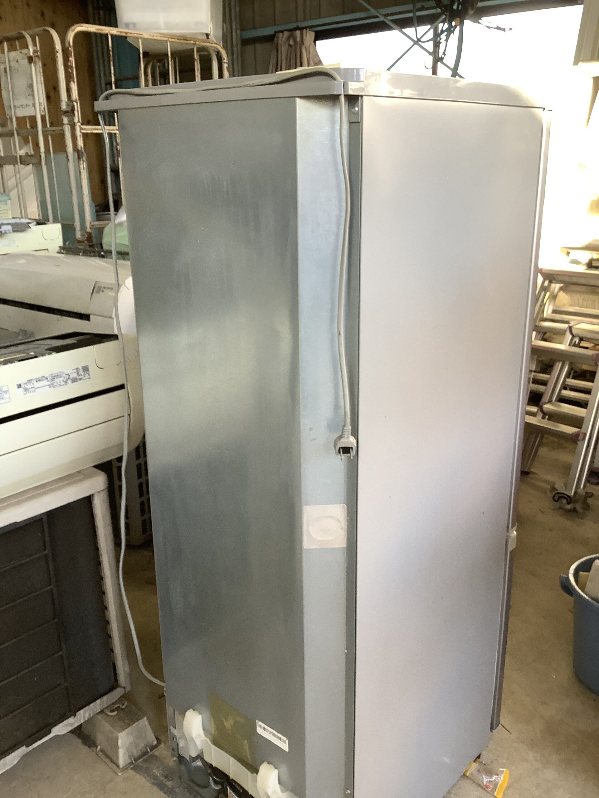 福山市引野町で回収した冷蔵庫