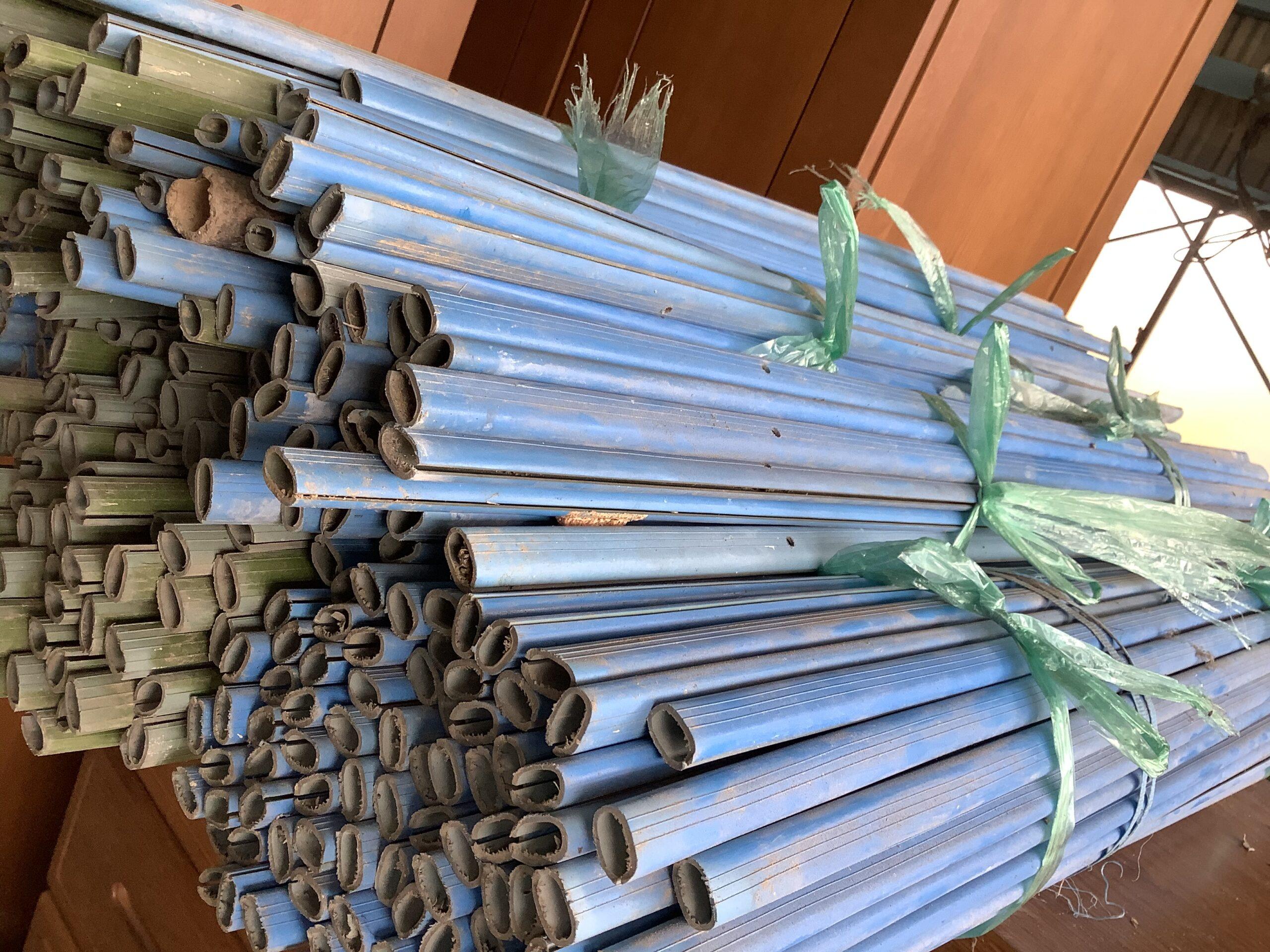 福山市神辺町で回収した柵に使った棒