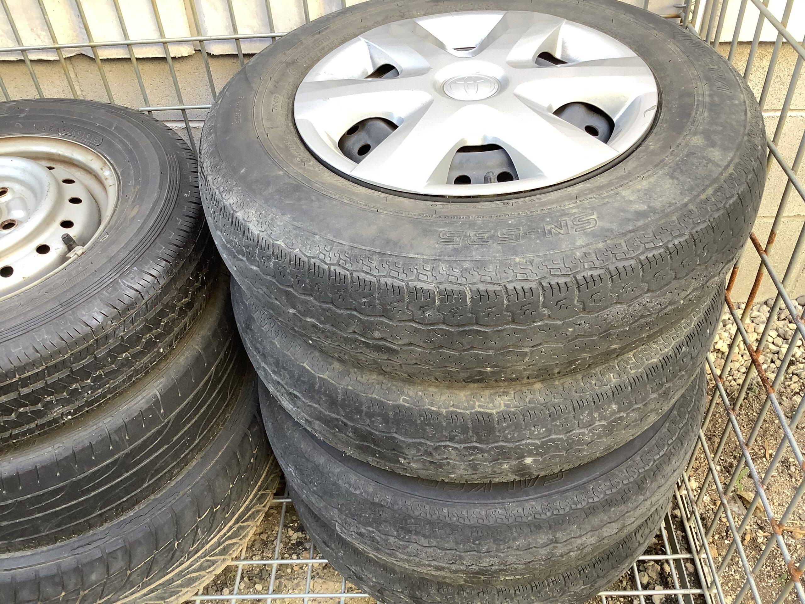 福山市神辺町で回収したタイヤ